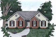 Traditional Style House Plan - 3 Beds 2 Baths 1071 Sq/Ft Plan #129-144 Exterior - Front Elevation