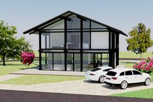 Home Plan - Modern Exterior - Front Elevation Plan #542-4