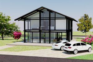 Dream House Plan - Modern Exterior - Front Elevation Plan #542-4