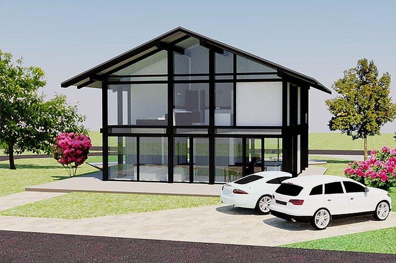 Modern Exterior - Front Elevation Plan #542-4