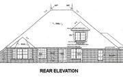 European Style House Plan - 4 Beds 3 Baths 2955 Sq/Ft Plan #310-674 Exterior - Rear Elevation