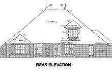 Home Plan - European Exterior - Rear Elevation Plan #310-674