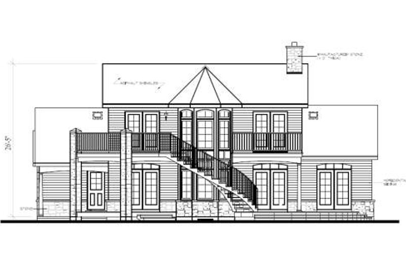 Victorian Exterior - Rear Elevation Plan #23-725 - Houseplans.com