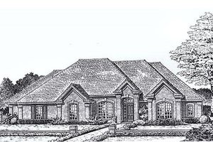 European Exterior - Front Elevation Plan #310-825