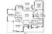 European Style House Plan - 3 Beds 2.5 Baths 2709 Sq/Ft Plan #84-616 Floor Plan - Main Floor Plan