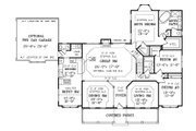 Southern Style House Plan - 3 Beds 2.5 Baths 2282 Sq/Ft Plan #456-13 Floor Plan - Main Floor Plan