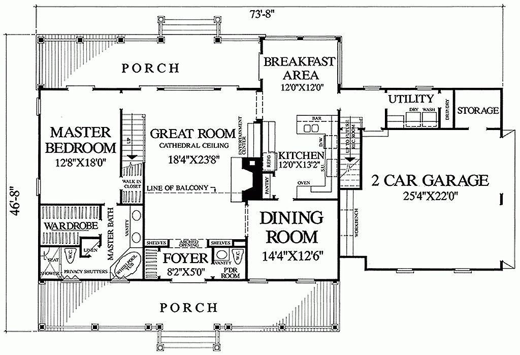 Southern Style House Plan 3 Beds 35 Baths 2568 SqFt Plan 137