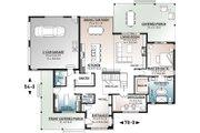 Farmhouse Style House Plan - 4 Beds 3.5 Baths 3164 Sq/Ft Plan #23-2691 Floor Plan - Main Floor Plan