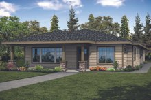 Home Plan - Prairie Exterior - Front Elevation Plan #124-1125