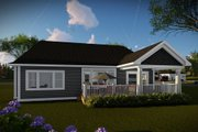 Ranch Style House Plan - 3 Beds 2 Baths 2005 Sq/Ft Plan #70-1485 Exterior - Rear Elevation