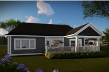 Ranch Exterior - Rear Elevation Plan #70-1485