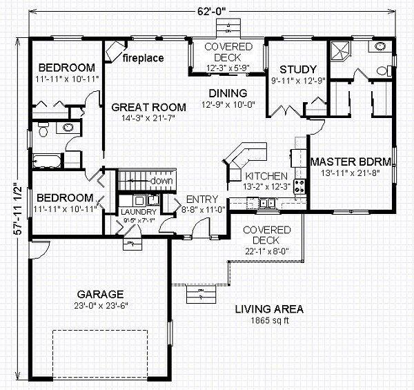 Traditional Floor Plan - Main Floor Plan Plan #414-106