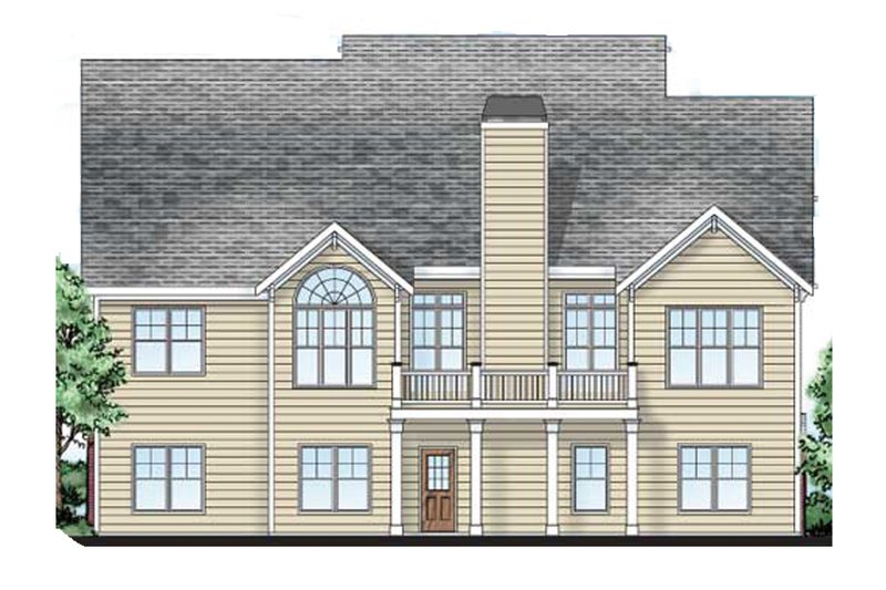 Craftsman Exterior - Rear Elevation Plan #927-3 - Houseplans.com
