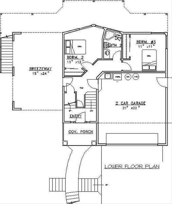 Beach Floor Plan - Lower Floor Plan Plan #117-527