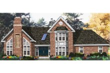 Dream House Plan - Traditional Exterior - Front Elevation Plan #3-174