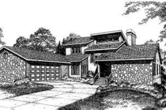 Exterior - Front Elevation Plan #322-101
