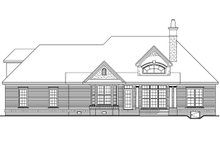 European Exterior - Rear Elevation Plan #929-55