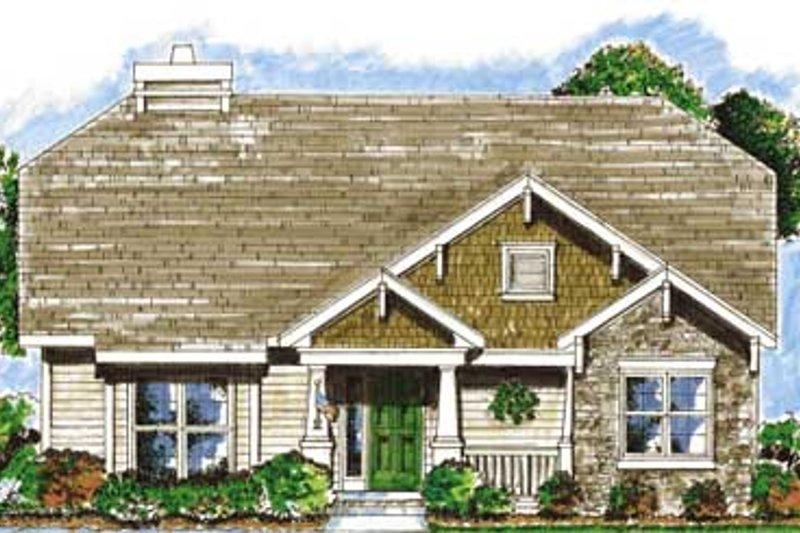 Dream House Plan - Craftsman Exterior - Front Elevation Plan #20-1367
