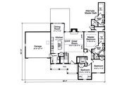 Country Style House Plan - 3 Beds 2 Baths 1535 Sq/Ft Plan #46-895 Floor Plan - Main Floor