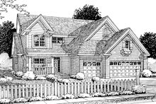 Home Plan Design - Traditional Exterior - Front Elevation Plan #20-1356