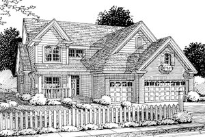 House Design - Traditional Exterior - Front Elevation Plan #20-1356