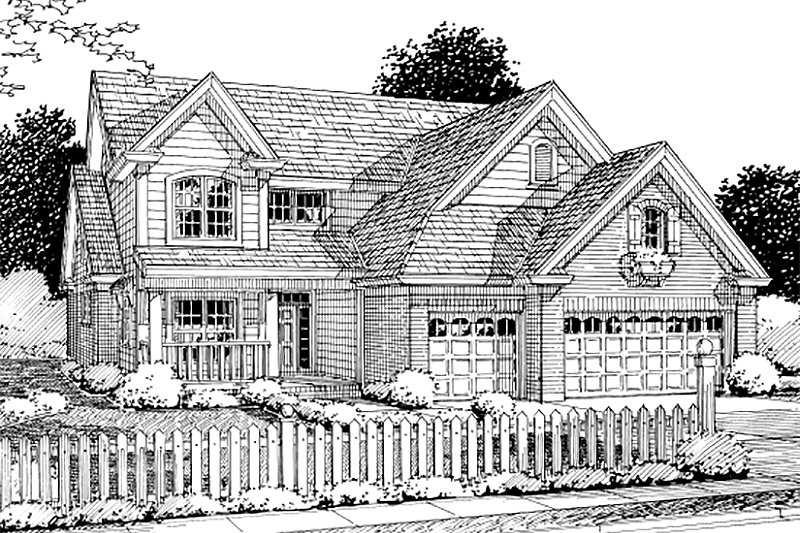 Dream House Plan - Traditional Exterior - Front Elevation Plan #20-1356