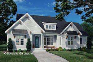 Cottage Exterior - Front Elevation Plan #929-1102