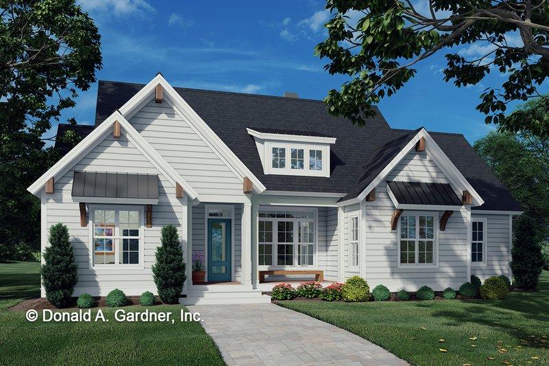 Dream House Plan - Cottage Exterior - Front Elevation Plan #929-1102