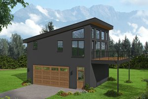 Dream House Plan - Contemporary Exterior - Front Elevation Plan #932-286