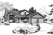 Traditional Style House Plan - 4 Beds 2.5 Baths 1827 Sq/Ft Plan #303-305 Exterior - Front Elevation
