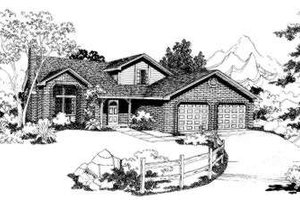 Traditional Exterior - Front Elevation Plan #303-305