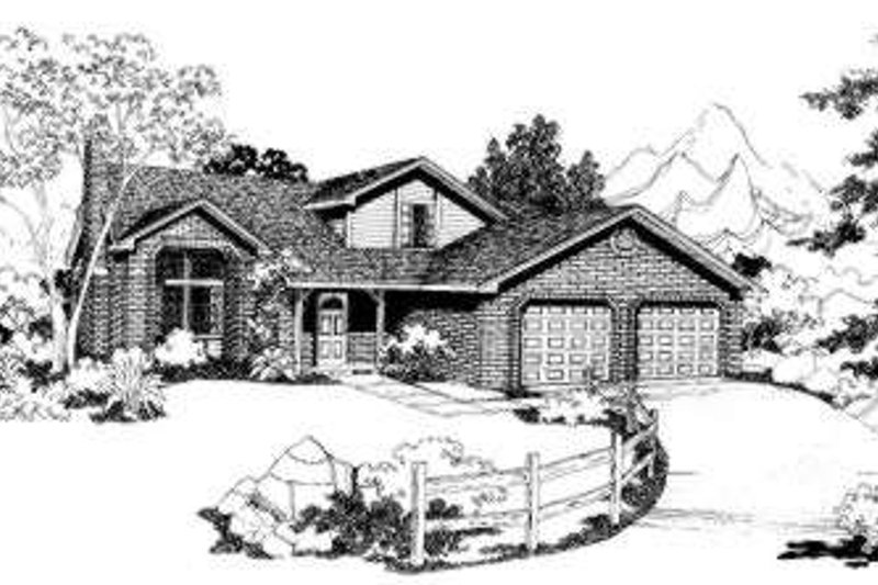 Traditional Style House Plan - 4 Beds 2.5 Baths 1827 Sq/Ft Plan #303-305