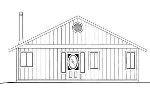 Cabin Exterior - Front Elevation Plan #117-790