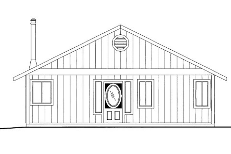 Cabin Style House Plan - 2 Beds 1 Baths 1200 Sq/Ft Plan #117-790 Exterior - Front Elevation