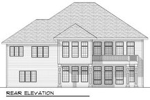 European Exterior - Rear Elevation Plan #70-813