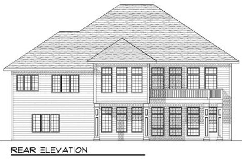 European Exterior - Rear Elevation Plan #70-813 - Houseplans.com
