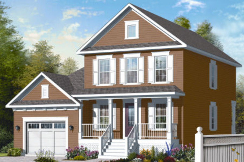 Country Exterior - Front Elevation Plan #23-2258 - Houseplans.com