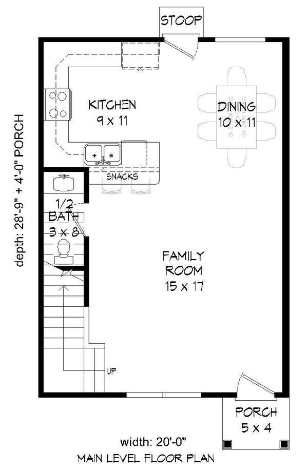 Contemporary Floor Plan - Main Floor Plan Plan #932-158