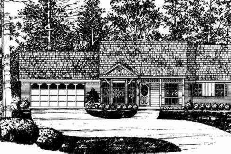 Ranch Exterior - Other Elevation Plan #40-229 - Houseplans.com