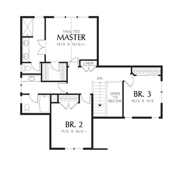 Traditional Floor Plan - Upper Floor Plan #48-522