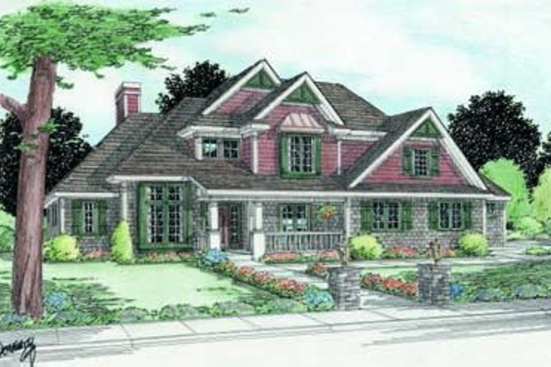 Traditional Exterior - Front Elevation Plan #20-1092 - Houseplans.com