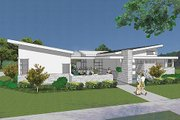 Modern Style House Plan - 4 Beds 2.5 Baths 2507 Sq/Ft Plan #48-479 Exterior - Front Elevation