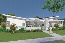 Modern Exterior - Front Elevation Plan #48-479
