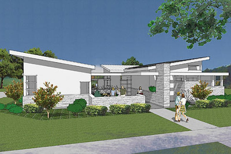 Modern Exterior - Front Elevation Plan #48-479 - Houseplans.com