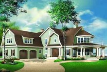 Dream House Plan - European Exterior - Front Elevation Plan #23-585