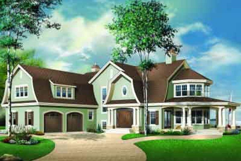 Dream House Plan - European Exterior - Front Elevation Plan #23-585