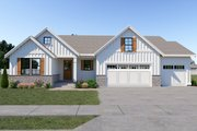 Farmhouse Style House Plan - 3 Beds 2.5 Baths 1792 Sq/Ft Plan #1070-32 Exterior - Front Elevation