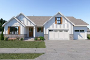 Home Plan - Farmhouse Exterior - Front Elevation Plan #1070-32