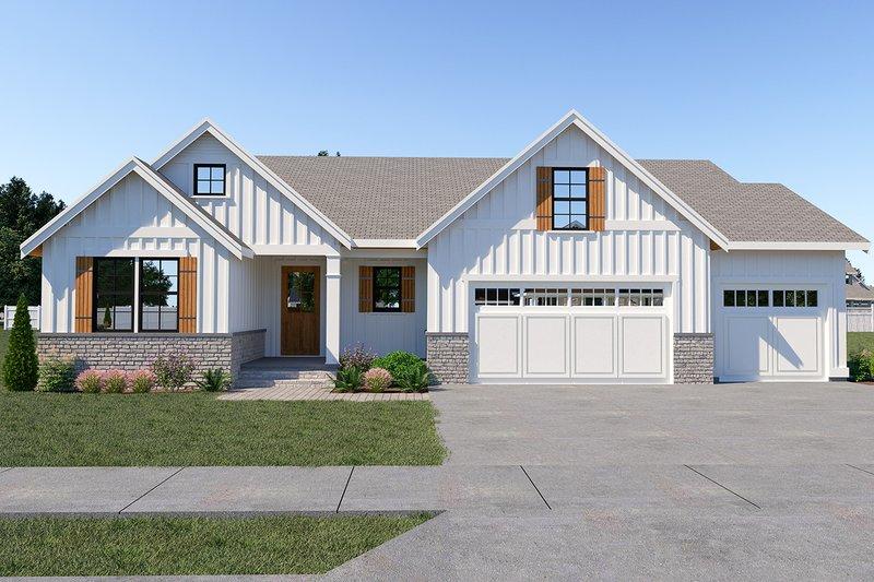 Farmhouse Style House Plan - 3 Beds 2 Baths 2122 Sq/Ft Plan #1070-32