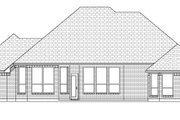 European Style House Plan - 4 Beds 3 Baths 2396 Sq/Ft Plan #84-629 Exterior - Rear Elevation